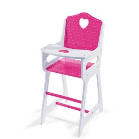 JANOD Doll Highchair Pink Spot