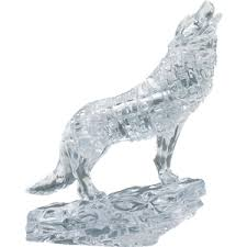 CRYSTAL PUZZLE 3D Silver Wolf