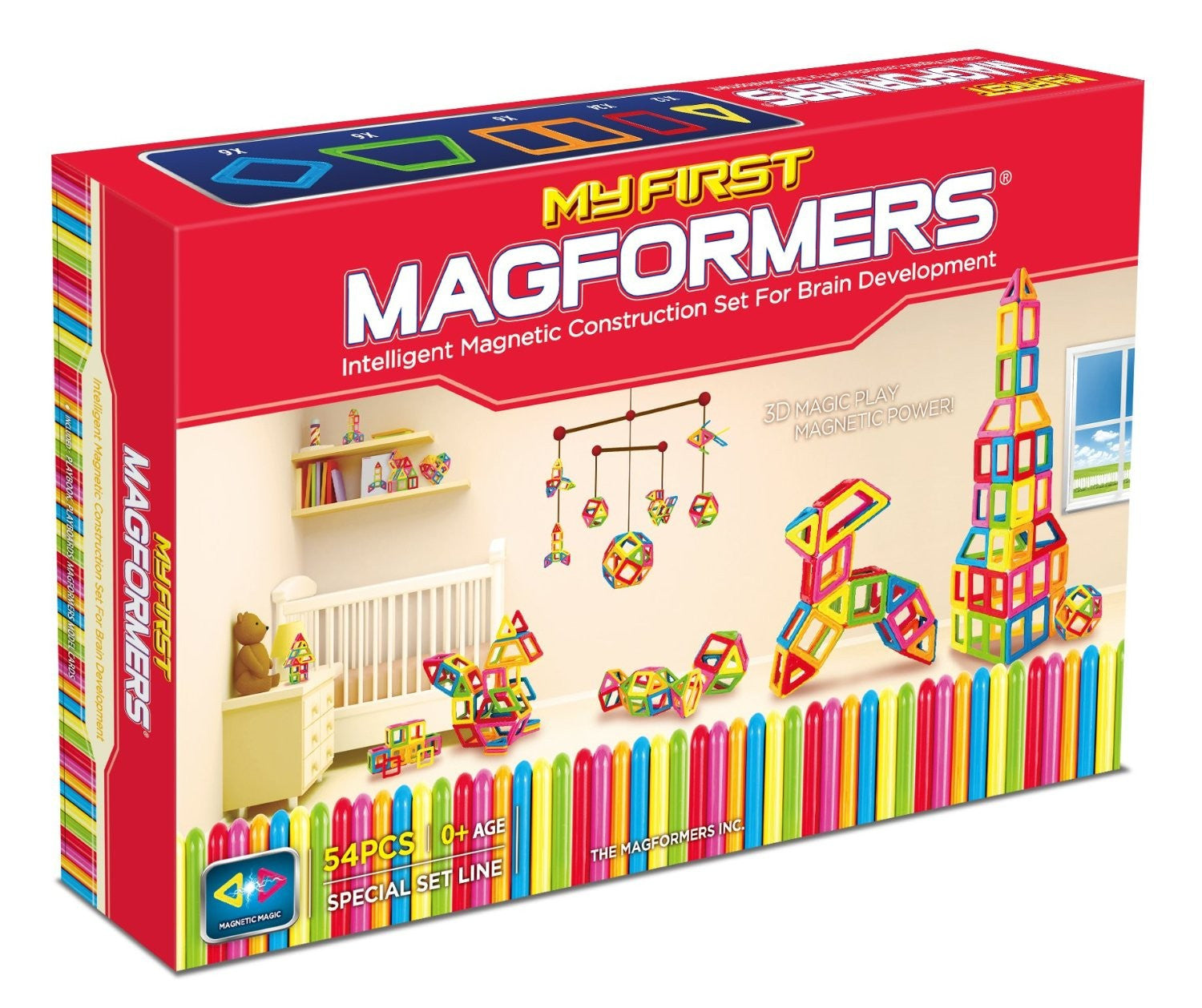 MAGFORMERS My First Magformers 54 pc