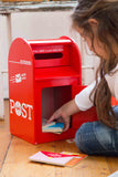MAKE ME ICONIC Post Box - Red Wooden