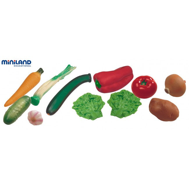 MINILAND EDUCATIONAL Food Vegetables, 11 pcs