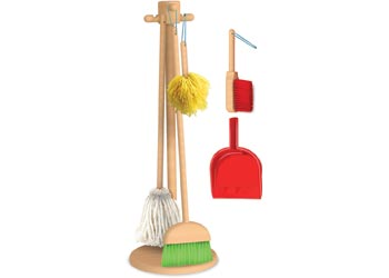 M&D Cleaning Set with Stand - Wooden