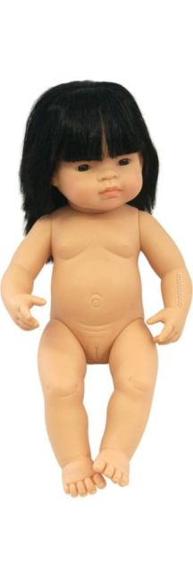 MINILAND Doll Asian Girl 38cm Polly Bag Anatomically Correct Baby Doll