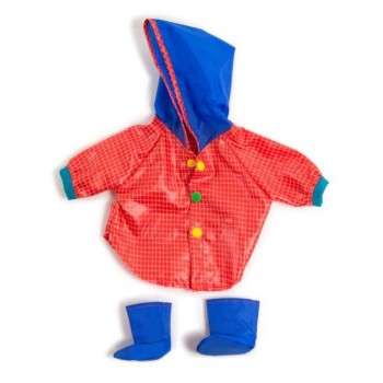 MINILAND Clothing Raincoat & Wellingtons set , (38-42 cm Doll)