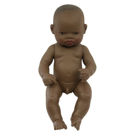 MINILAND Anatomically Correct Baby Doll African Boy  38cm Polly Bag