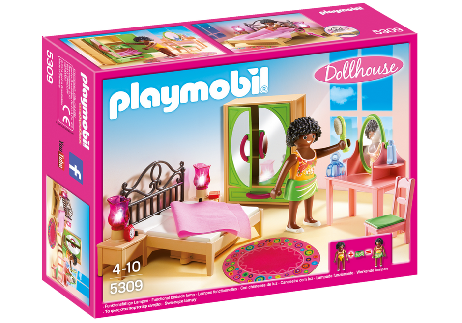 PLAYMOBIL Dollhouse - Master Bedroom with Dressing Table 5309