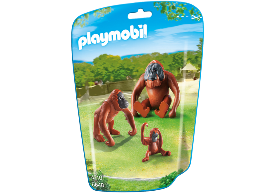PLAYMOBIL Zoo/Wildlife Orangutan Family 6648