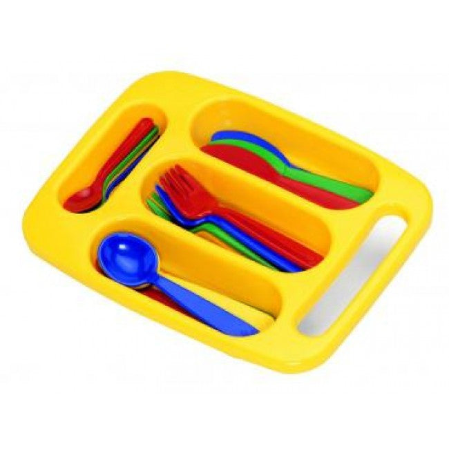 PLASTO TOYS Cutlery Set with Tray