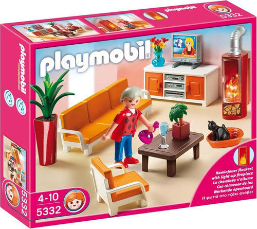 PLAYMOBIL Dollhouse Comfortable Living Room 5332