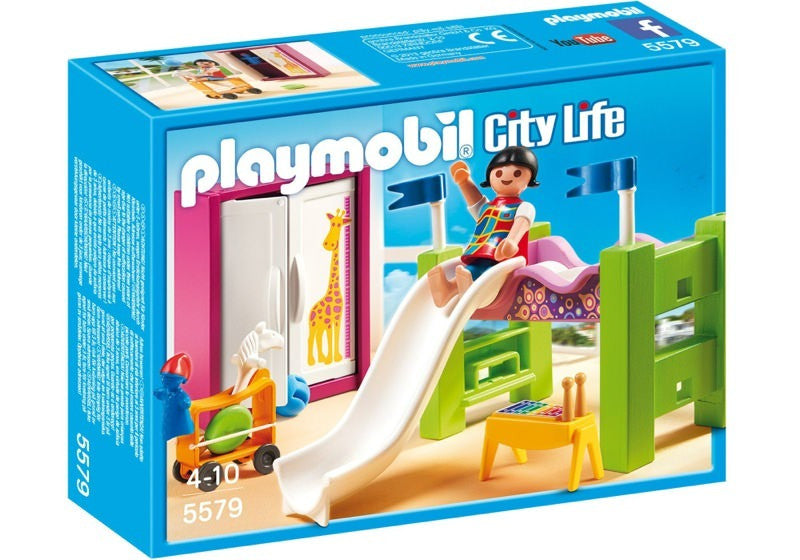 PLAYMOBIL Dollhouse Modern Children's Room w Loft Bed 5579