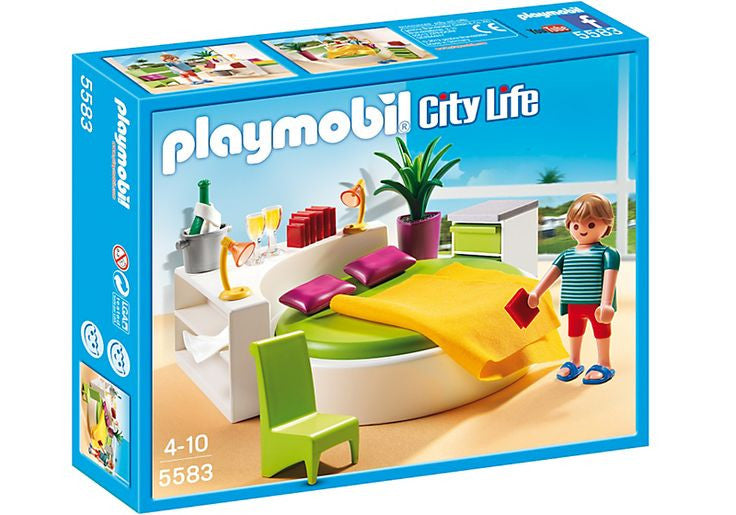 PLAYMOBIL Dollhouse Modern Master Bedroom 5583