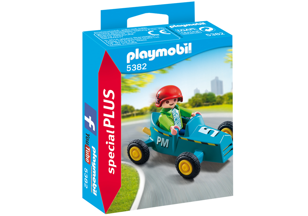PLAYMOBIL City Life Boy With Go-Kart 5382