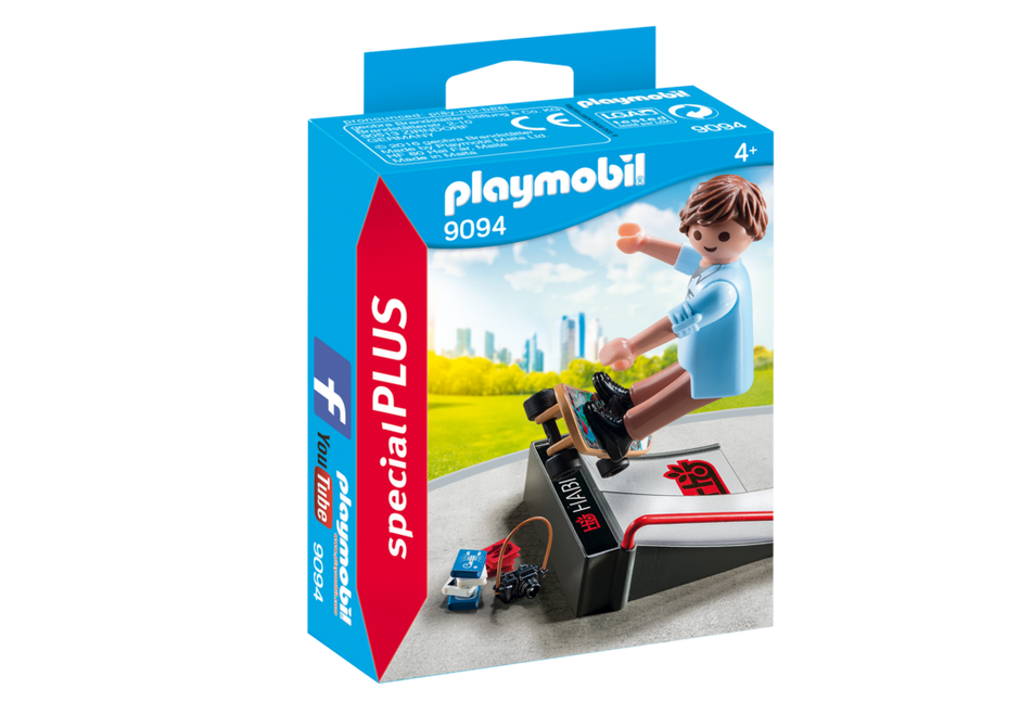 PLAYMOBIL Skaterboarder with Ramp 9094