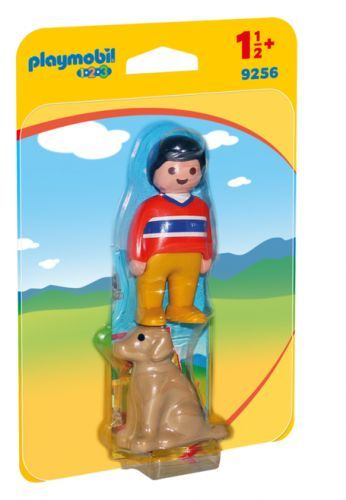 PLAYMOBIL 123 Boy with Dog 9256
