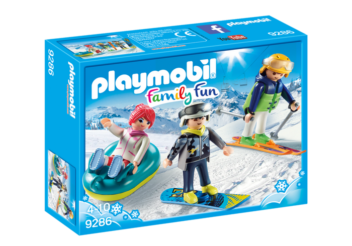 PLAYMOBIL Family Fun - Winter Sports Recreational Skiers 9286