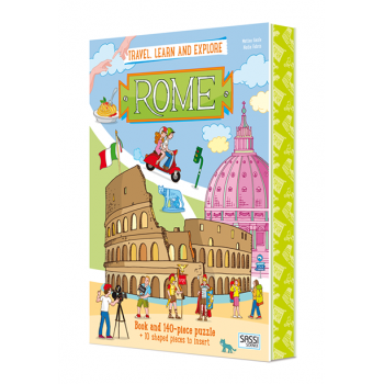 SASSI Travel, Learn & Explore - Rome book +140 pc puzzle