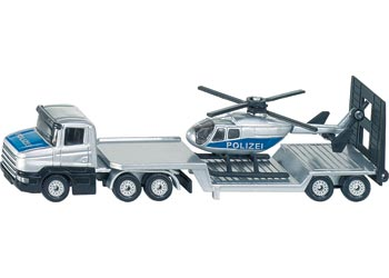 SIKU - Low Loader with Helicopter - Blister Pack Double