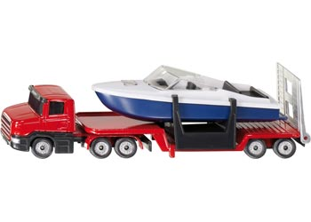 SIKU - Low Loader with Boat - Blister Pack Double