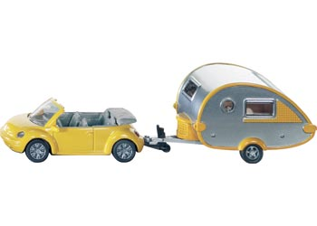 SIKU - Car with Caravan - Blister Pack Double
