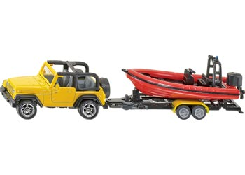 SIKU - Jeep with Boat - Blister Pack Double