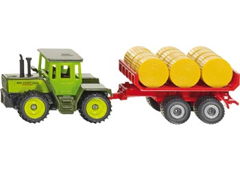 SIKU - Tractor with Bale Trailer - Blister Pack Double