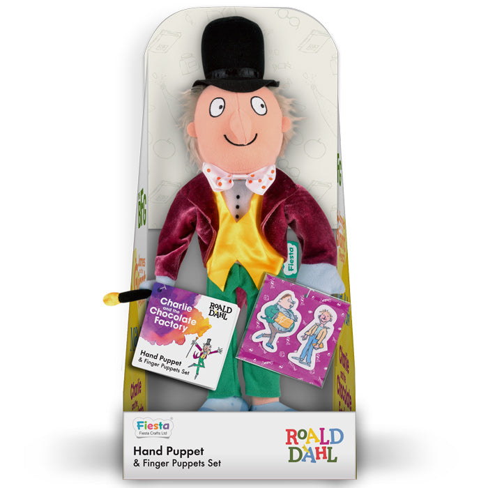 FIESTA CRAFTS Hand Puppet Set - Roald Dahl Charlie & the Chocolate Factory