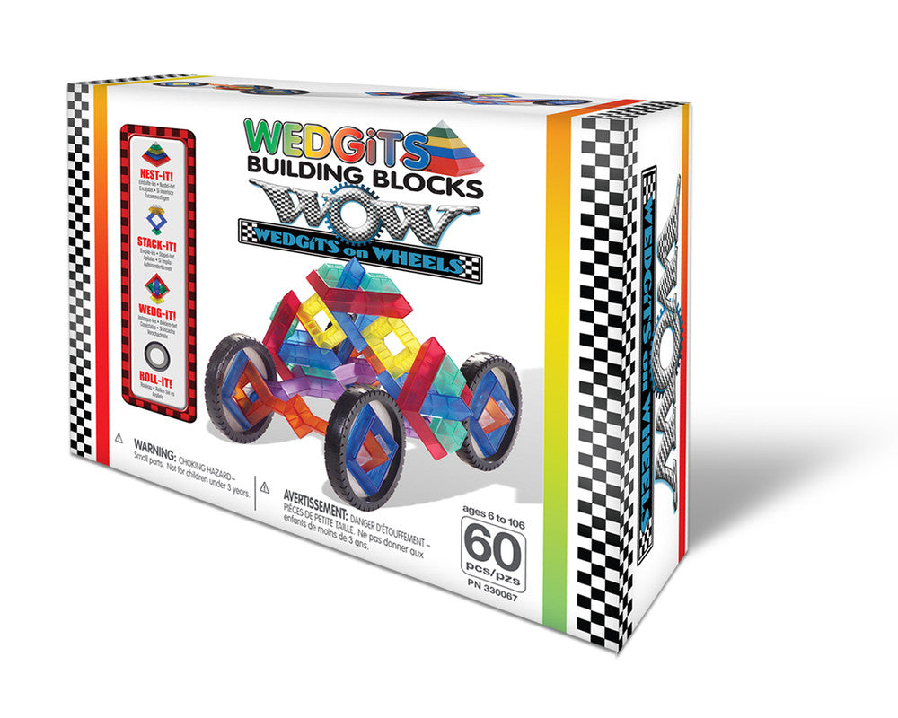 WEDGITS Buillding Set On Wheels 60 pc