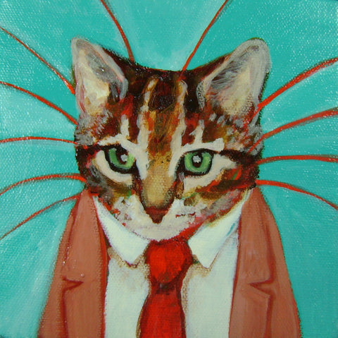 Highly Professional Business Cats SQUARE Gicleé Print