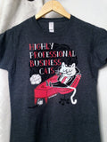 Highly Professional Business Cats Ladies Tee Charcoal Grey
