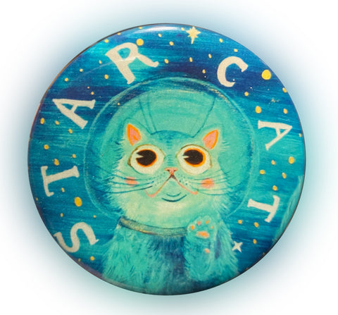 "2.25"" Star Cat Magnet! GLOW IN THE DARK!"