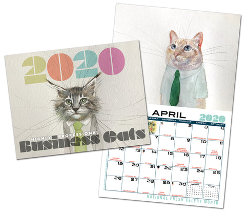 Business Cats Wall Calendar 2020