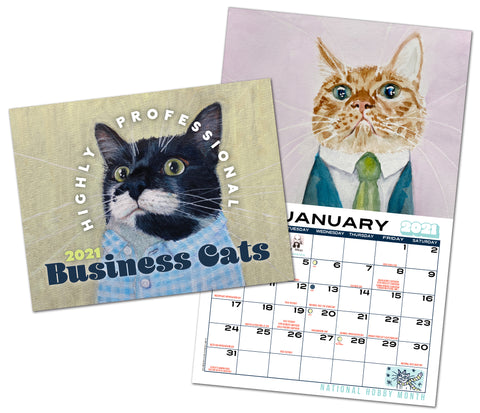 Business Cats Wall Calendar 2021