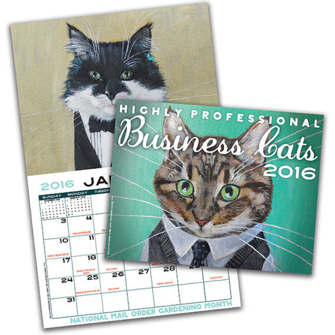 Business Cats Wall Calendar 2016