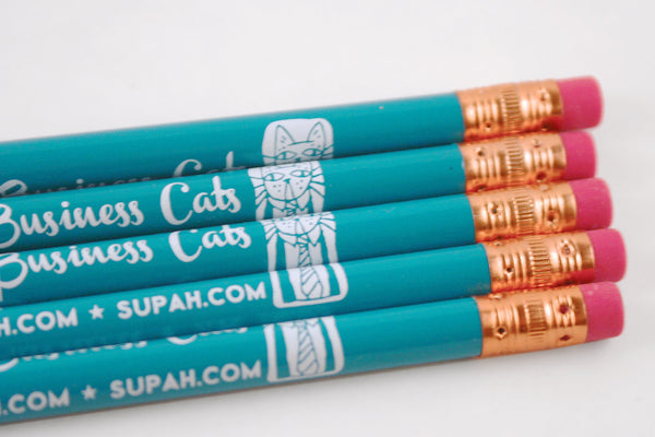 5 Pack of Highly Professional Business Cat Pencils