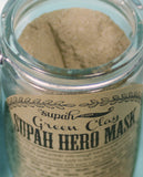 Supah Hero Facial Mask - Green Clay Organic - 2 oz Jar Dry Mix