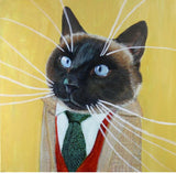 Doug Jones Business Cat Fine Art Print 10x10""