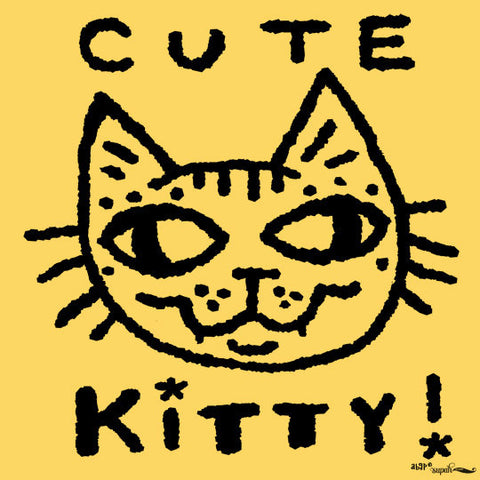 Cute Kitty Tee Shirt for Kids - Daisy Yellow