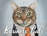 Business Cats Wall Calendar 2019