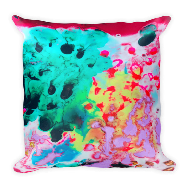 Far-Out Supah Square Pillow