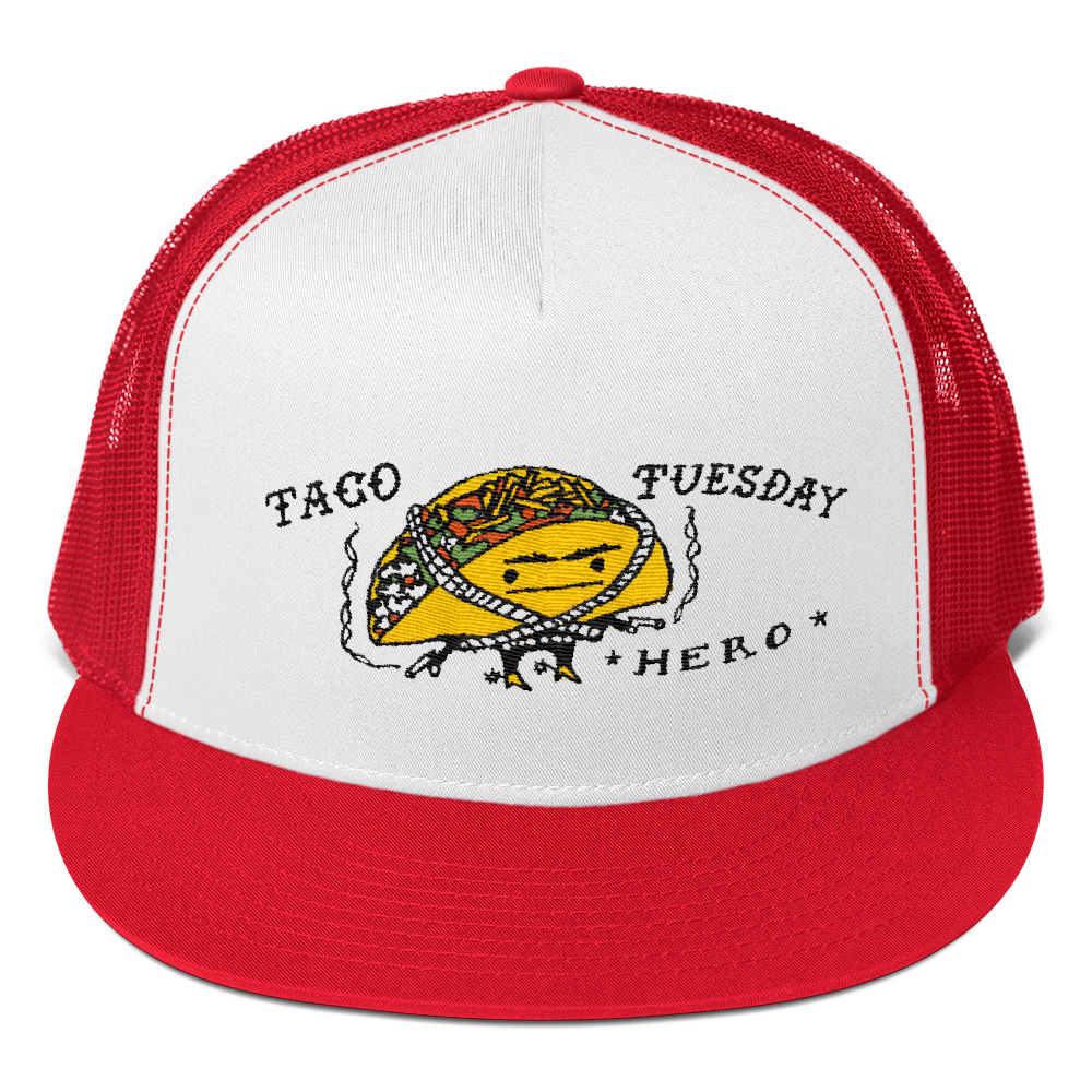 9cc4021b3 Taco Tuesday Hero Embroidered Trucker Cap