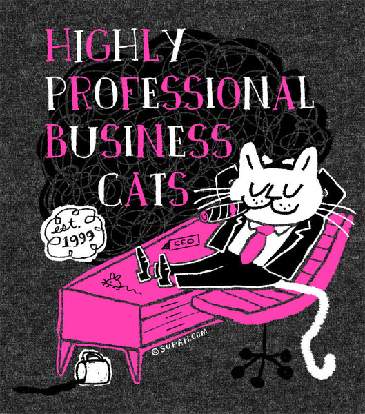 Highly Professional Business Cats Unisex Tee Charcoal Grey
