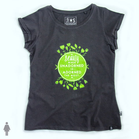 Adult Fairtrade organic cotton T-shirt - BEAUTY
