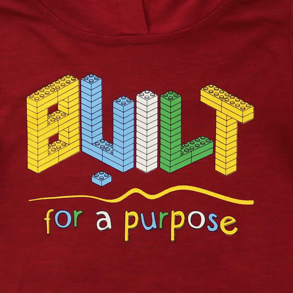Built for a Purpose kids hooded t-shirts