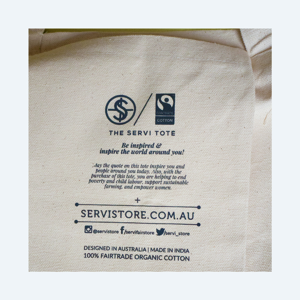 Fairtrade organic cotton Tote Bags - Aspire