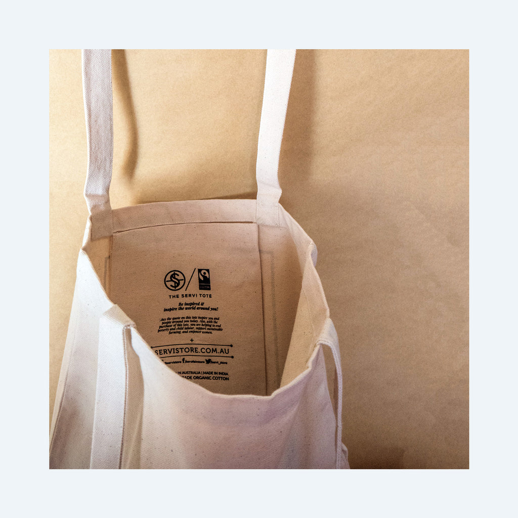 Fairtrade organic cotton Tote Bags - Pray Hope & Don't Worry