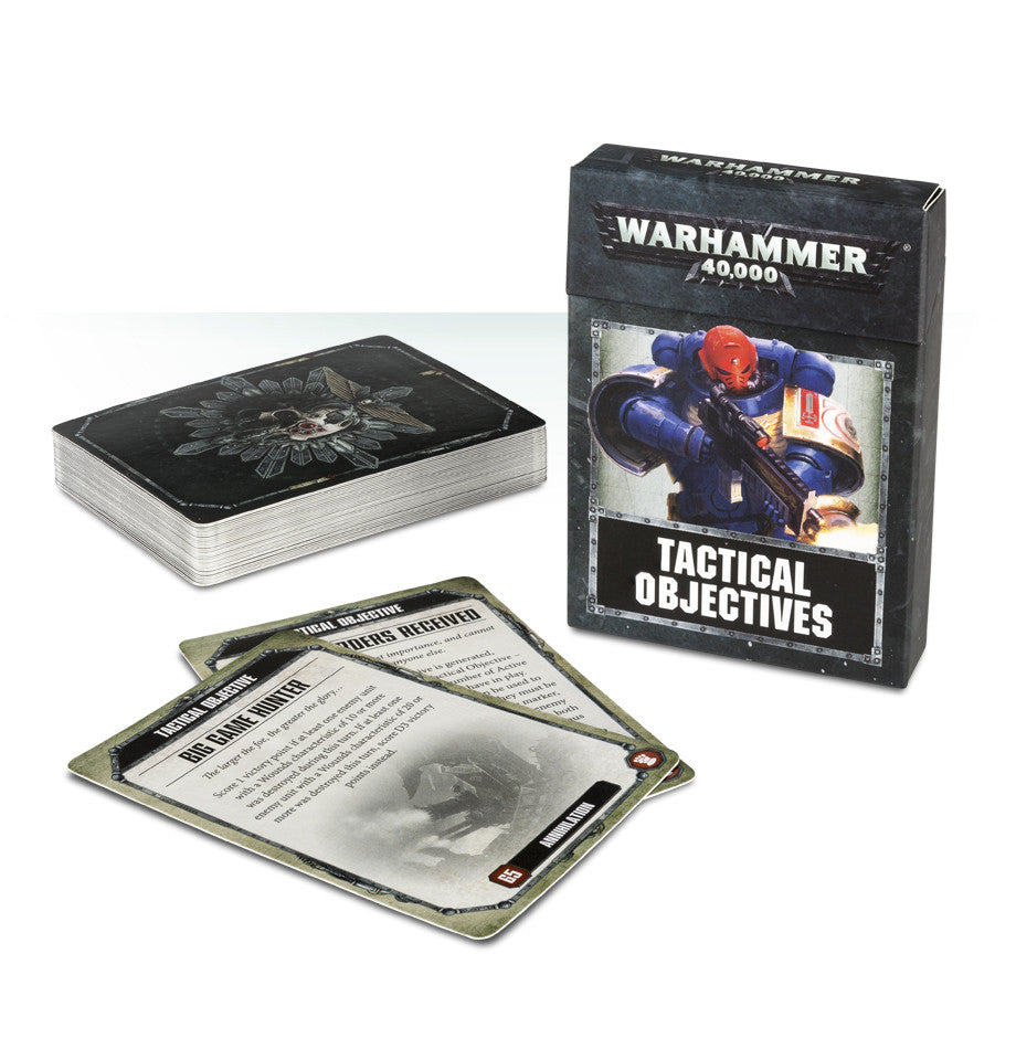 WARHAMMER 40k 8TH ED TACTICAL OBJECTIVE CARDS  DICEHEADdotCOM