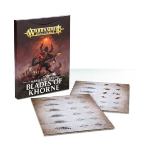 Chaos WARSCROLL CARDS BLADES OF KHORNE  DICEHEADdotCOM