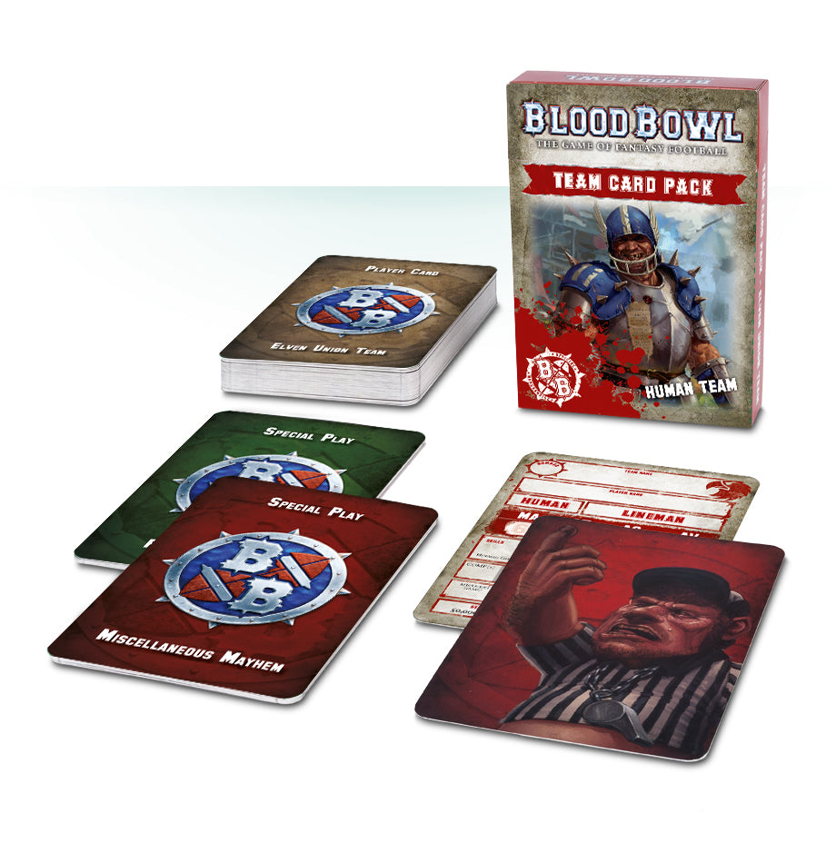 Blood Bowl Human Team Card Pack DICEHEADdotCOM