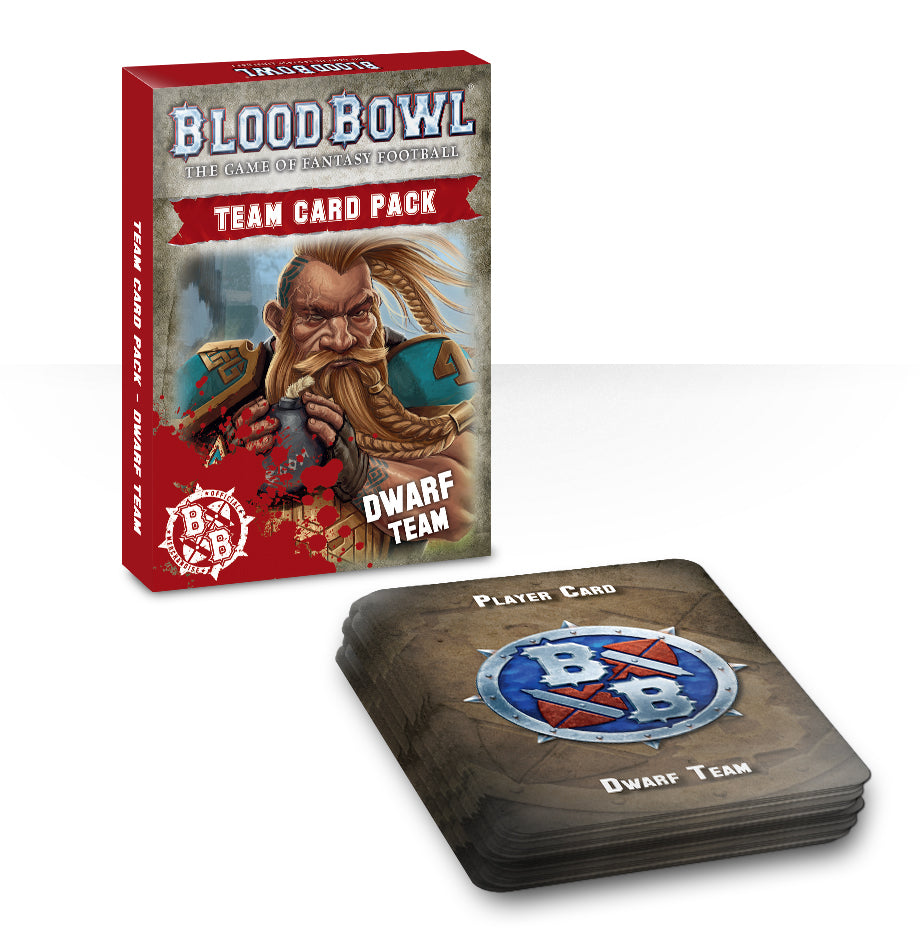 BLOOD BOWL DWARF TEAM CARDS DICEHEADdotCOM