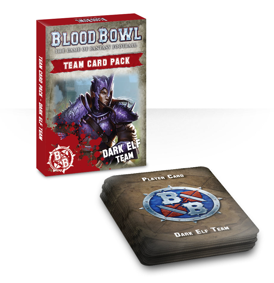 BLOOD BOWL DARK ELF TEAM CARDS DICEHEADdotCOM
